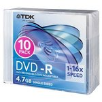 $2 - TDK DVD-R 16x 4.7GB Slim Case 10 Pack @ DickSmith