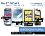 [LiveConnected Customers] Galaxy Note 2 $500, Lumia 920 $410, One X $350