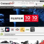Fujifilm sale starts today! 10% off nearly everything Fujifilm, 10 days only. Instore & Online