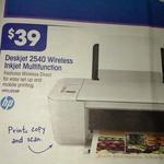 HP Wireless Deskjet 2540 $39, Samsung Wireless Laser Colour Printer $299 @OW