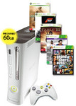 Xbox 360 60GB Console + 5 Games for $98 (Preowned) + Delivery @EB Games