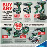 Buy a Bosch 18v Drill or Drill Kit with 2 Batteries, Receive $50 off 18v Power Tools @ Masters