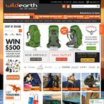 Wild Earth 10% off Camping/Outdoors Equipment Code