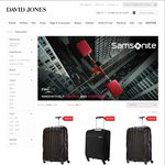 Save up to 50% off The Price of Samsonite @ David Jones - Clearance Now