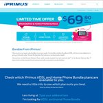 iPrimus Broadband and Home Phone Bundle $69.90 Per Month