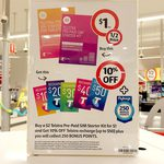 Coles - Buy a $2 Telstra Pre-Paid SIM Starter Kit for $1 and Get 10% off Recharge (up to $50)