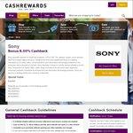 8% Cashback Sitewide at Sony Store @ Cashrewards