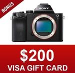 Sony A7 (Body Only) - $1078 Shipped (+ Bonus $200 Visa Card Via Redemption) @ CameraPro