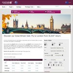 Qatar Airways Great Britain Sale: Manchester $1185, London $1240 (Return) + More