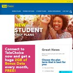 TeleChoice Student Offers - $28/M for 5GB + $1000 Talk | $38/M for 8GB + Unlimited Talk (No Lock-in Plans)