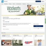 AmEx Statement Credit: Woolworths Online Spend $100 or More, Get $20 Back