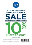 10% off Storewide* at Big W (*Lots of Exclusions) 19-20 November