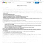 10% off Sitewide at eBay ($75 Minimum Spend)