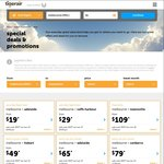 Tiger Perth - Brisbane $49 Each Way, 31/10 to 24/11 (50 Seats)