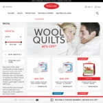 40% off All Full Price Wool Quilts @Tontine Online Prices from $53.99 + Free Standard Shipping over $100