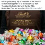 [Perth] [7 to 10 September] Free 1kg of Lindor Balls to The First 100 Customers Who Spend $10