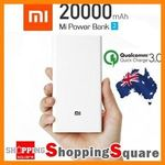 Xiaomi Power Bank 2 20,000mAh (QC3.0) $37.41 Delivered (AU Stock) @ Shopping Square eBay