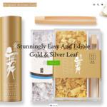 Edible Gold & Silver Leaf Cake Decoration - 15% off Storewide (Minimum Spend $70) @ Original Artisan Gold