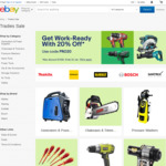 Back to Work Tradies Sale - 20% off Selected Stores @ eBay