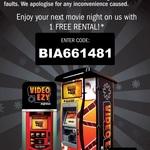 One Free Rental @ Video Ezy Express Kiosk - BIA661481 - Expires Thursday 1st February