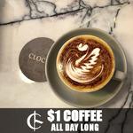 [VIC] $1 Coffee on March 14 @ Clocks at Flinders
