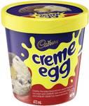 Cadbury Creme Egg Ice Cream 473ml $3.50 (1/2 Price) @ Woolworths