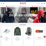 [VIC] Rays - South Morang 20% off Entire Store