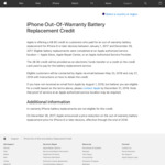 Apple: $80 Refund for Out-of-Warranty iPhone 6 & Later Models Batteries Replaced in 2017 by Apple or Authorized Service Provider