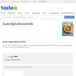 Win a Gude Alpha Bread Knife Worth $250 from News Life Media