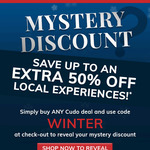 10% off Experiences (for Purchases over $39) @ Cudo