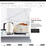Take an Extra 10% off Selected Already Reduced Electrical at David Jones (Online Only)