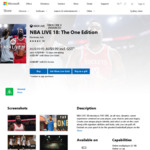 [Xbox One] NBA LIVE 18: The One Edition $10 ($6 for Xbox Live Gold Subscribers) @ Microsoft Store