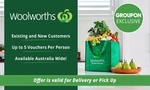 $2.50 for $20 to Spend on Woolworths Online Groceries (Min. Spend $220) @ Groupon (New Or Existing Customers)