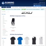 2XU Compression Tights $65.89 + $5 Flat Rate Shipping (Free over >$150) @ Running Warehouse Aust