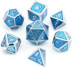 Blue and Silver D20 7 Dice Set USD $37.95 (~AUD $46.60) (Save 60%) + Free Shipping @ Torches&Swords