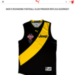 Richmond Football Club Replica 2017 Premiership Guernsey $105 Premiership Suedes $105 @ Puma Online