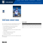NRL Bulldogs 2018 Official Jersey $60 (Was $165) Plus Postage. Both Home and Away.