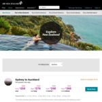 Sydney to Christchurch from $175 One Way (Dates in 7 Nov - 12 Dec 2018) @ Air New Zealand