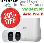 Netgear VMS4230P Arlo Pro 2 Smart Security System with 2 Cameras $559.20 Delivered @ Shopping Express eBay