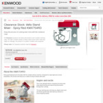 Kenwood Kmix Stand Mixer - Spicy Red KMX754RD (Box Damage) $229.00 + Delivery (Was $349.00) @ Kenwood