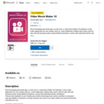 [PC] $0 Video Movie Maker 10 @ Microsoft Store