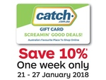 10% off Catch Gift Cards @ Australia Post