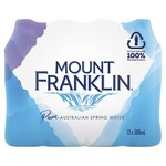 Mount Franklin Spring Water 12x500ml $3.50 ($4.67 NSW/QLD, $4.60 SA/NT) @ Coles