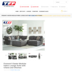 45% off Fremont 5 Seater Modular Fabric Lounge Suite w/Chaise $1190 (Was $2150) @ The Furniture People (Montmorency)