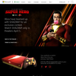 Win Two Custom SHAZAM! Xbox One X Console & Controller Bundles or 1 of 5 Minor Prizes from Microsoft