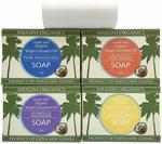 50% off Pure Coconut Soap Bar Lavender, Patchouli, Lemongrass, Unscented (4pk $9.95) + Post (Free with Prime/ $49+) @ Amazon AU
