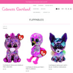 50% off Beanie Boo Sequin Flippables + $9 Shipping (Free with $75 Spend) @ Cuteness Overload