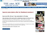 The Age Newspaper (VIC) $99 for 52 Week Monday to Sunday Subscription