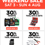 30% off Penrite and All Garage Tools & Equipment @ Repco