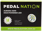 Pedal Nation Aurora LED Bike Lights: 3200 Lumens $50 (Was $199.99), 1000 Lumens $30 (Was $69.99) + Shipping @ Rebel Sport